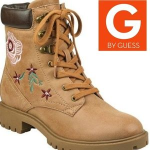 G by guess prinse embroidered hiking boots